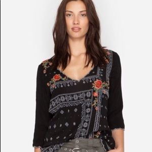 Johnny Was Bennet Embroidered Blouse